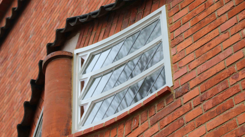 Steel windows with unusual shape