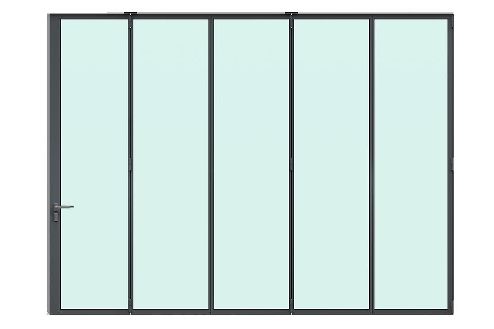 3d render MHB Steel folding door completely closed