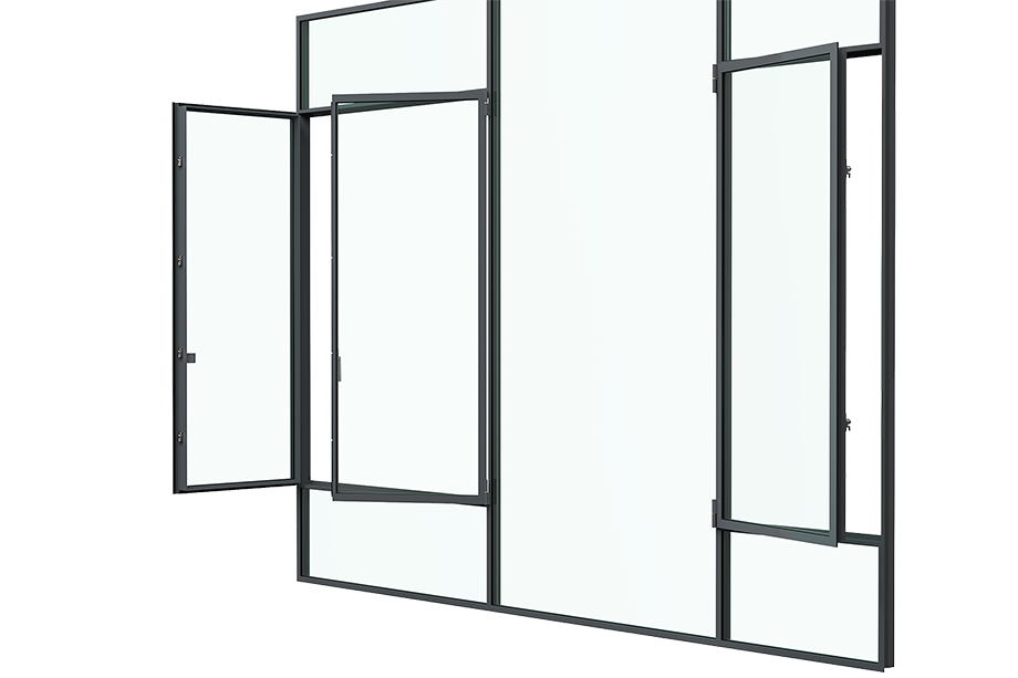3d render of the Turn Window (vertical) from a side views
