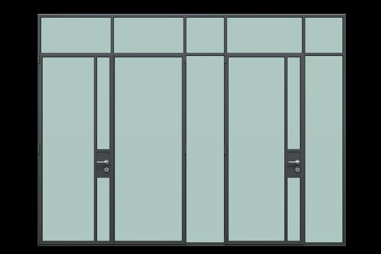 3d rendering front view of MHB steel lock case doors large