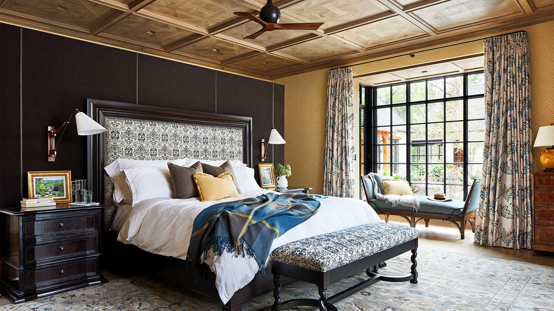 Bedroom with steel glazed windows