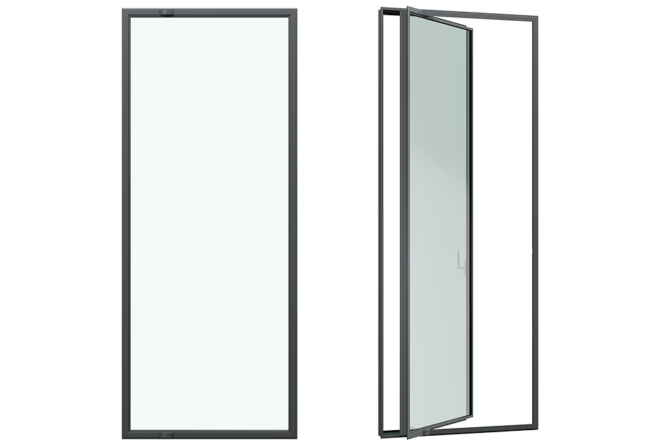 MHB frenchdoor as pivotdoor 3d rendering