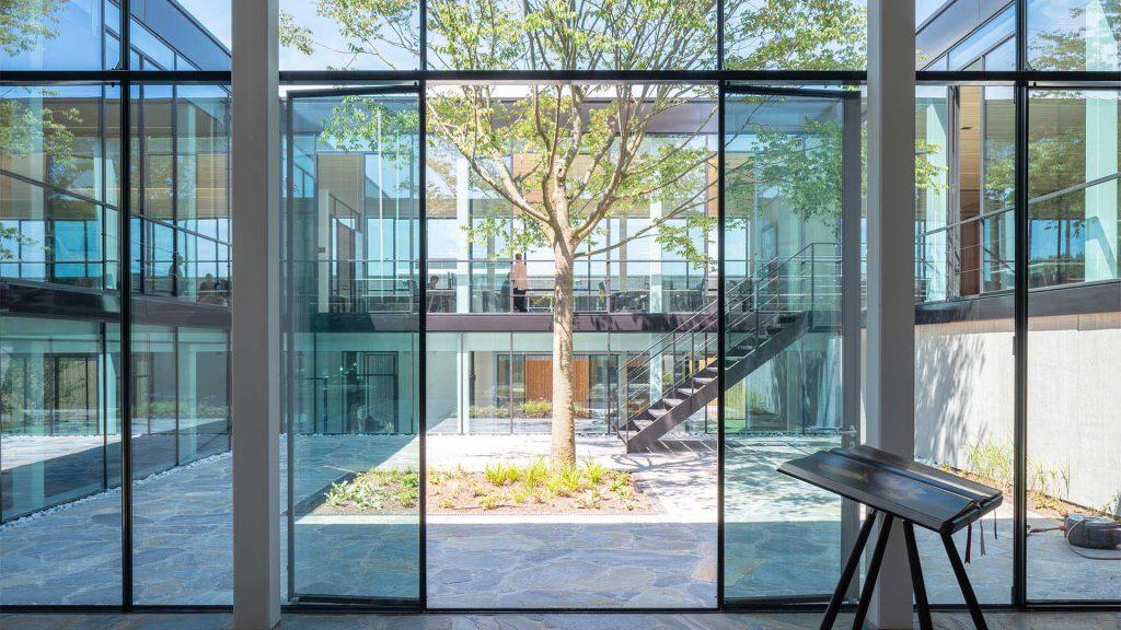 MHB steel doors in the big green egg main office building