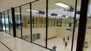 Steel glazed windows in a school