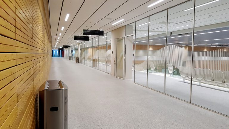 Interior steel glazed partitions at the sportcampus Zuiderpark, the Hague, the Netherlands