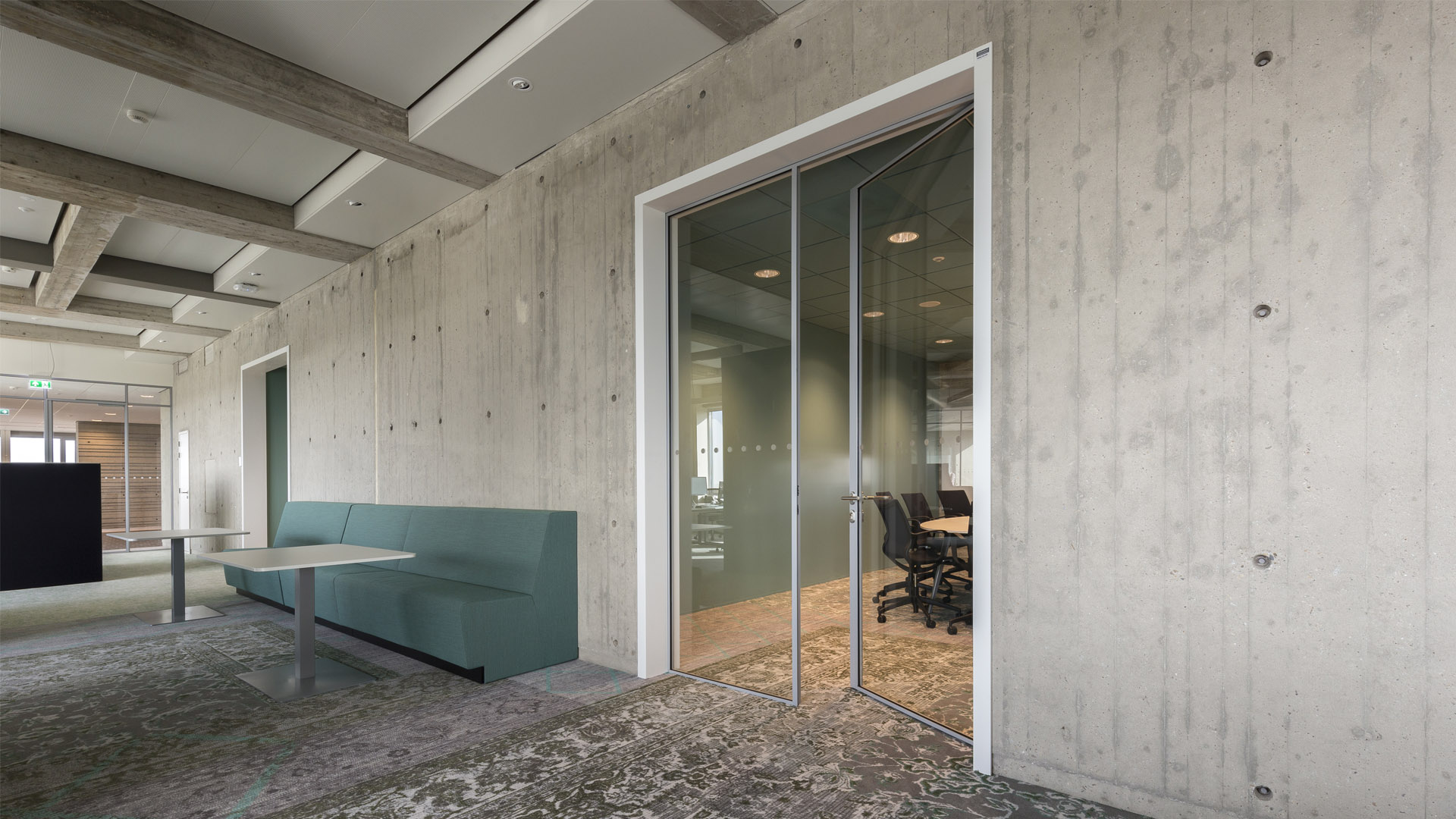 Smoke protection doors in the dentist department of the Radboud University, Nijmegen, the Netherlands