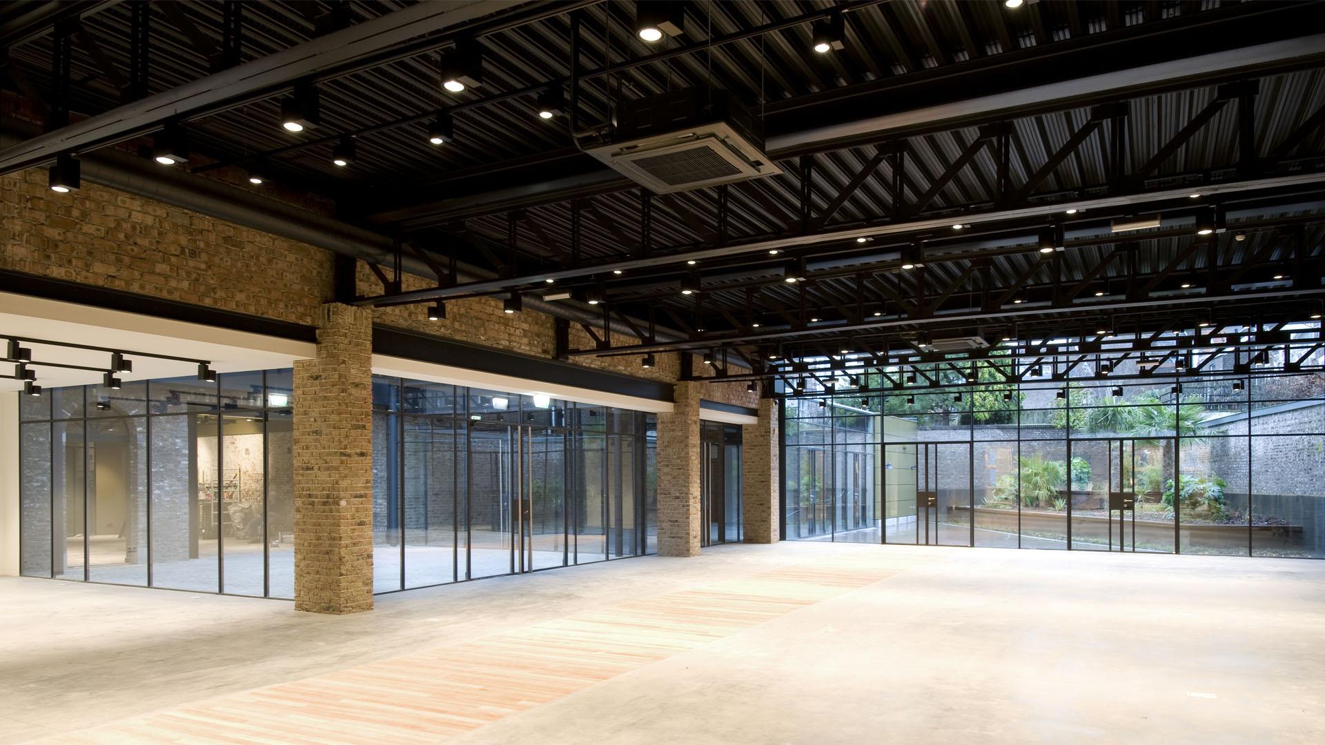 Steel glazed indoor doors and partitions at office building in Bredestraat Maatsricht, the Netherlands
