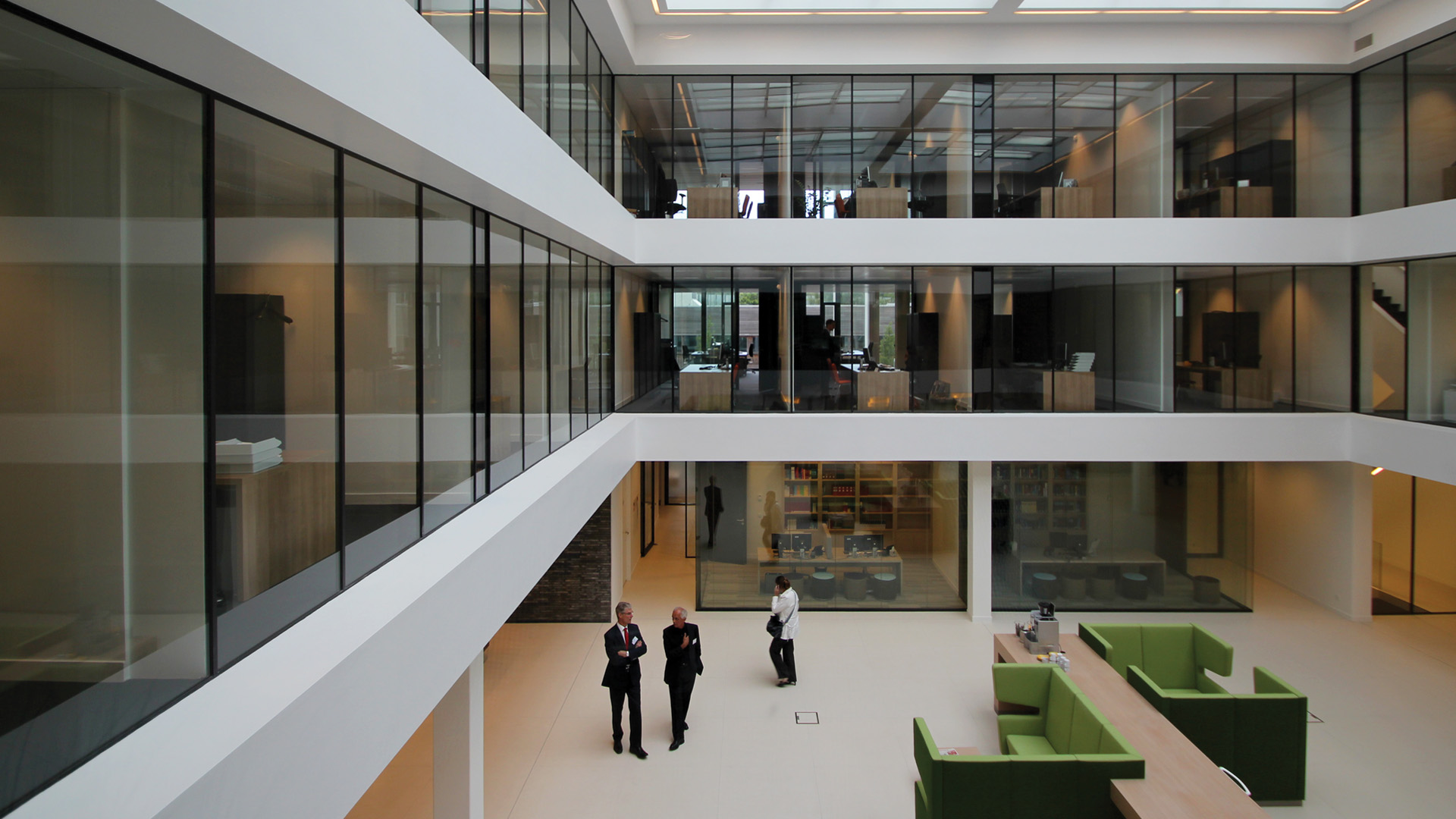 Steel glazed windows in the accountancy office of WVDB in the Netherlands