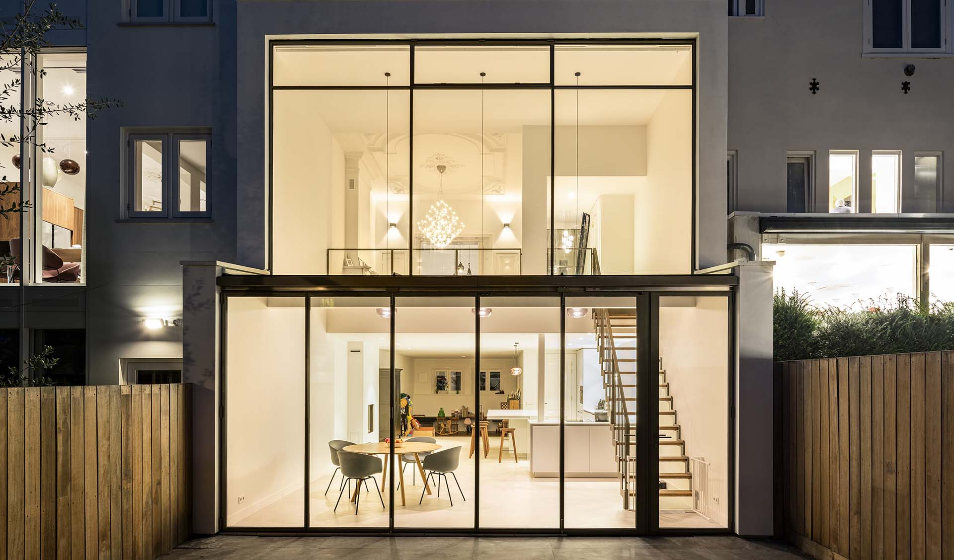 A steel folding door for a renovated building in south of Amsterdam, the Netherlands